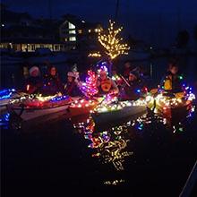 Human-Powered Holiday Flotilla in Petaluma