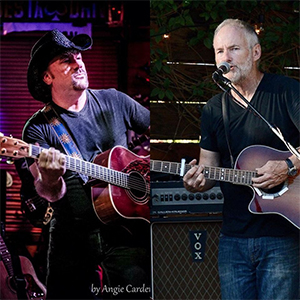 James Funk, of The Southpaws, with Dan Durkin of Petty Theft.