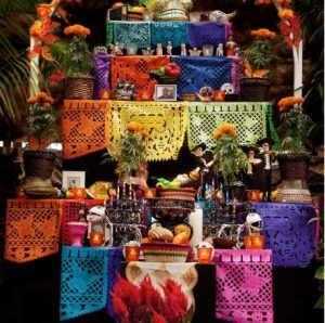 Dia de los Muertos Altar Display on the Windsor Town Green