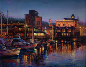 Petaluma Evening by artist Natasha-Marquardt-Petaluma Arts Center