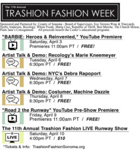 Trashion Fashion Week schedule