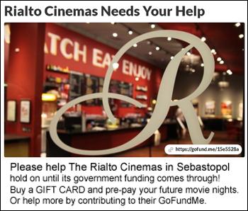 Rialto Sebastopol fundraiser