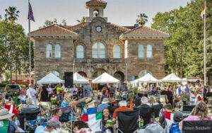 Live music at the Farmers Market on the Sonoma Plaza