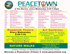 Peacetown concerts 2021