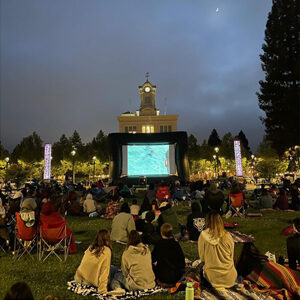 Outdoor Movies in Courthouse Square Santa Rosa