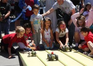 Zucchini Races at Healdsburg Farmers Market